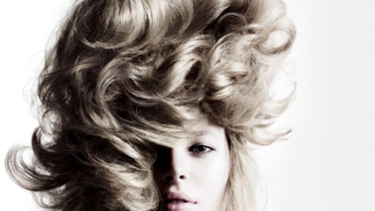 Blonde Lowenmahne Hochgesteckt