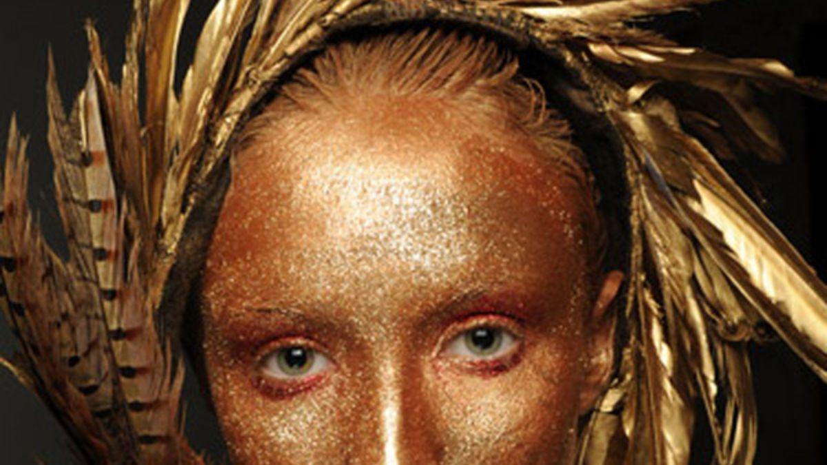 Gesicht Und Haarschmuck Komplett In Gold