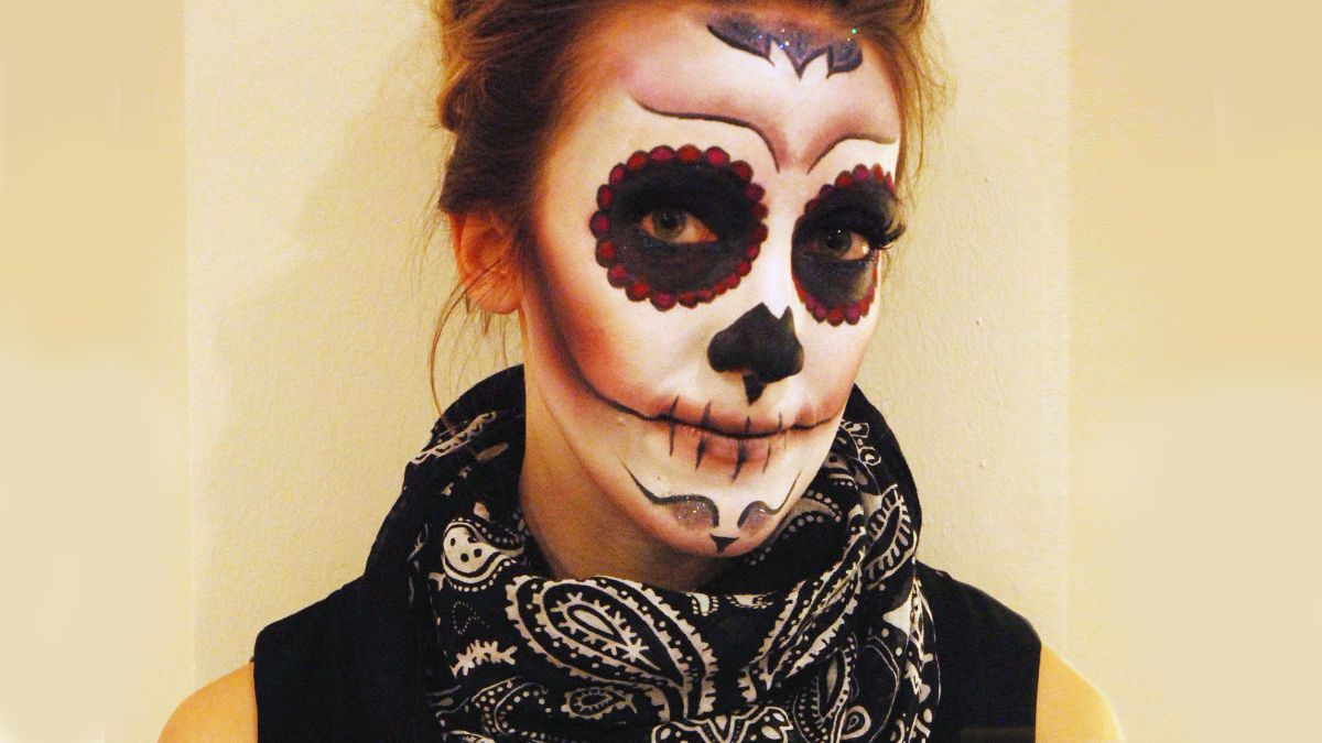 Mexikanische Totenmaske Schminkanleitung Bilder
