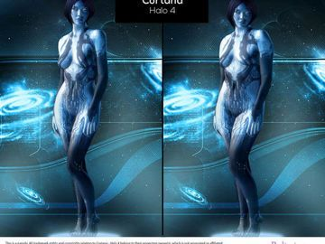 Cortana aus Halo 4 - Reverse Photoshop