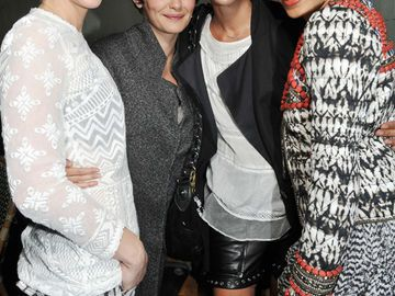 January Jones, Audrey Tautou, Isabel Marant und Freida Pinto in H&M