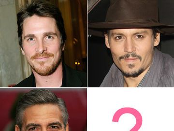 Promi-Mix aus George Clooney, Johnny Depp und Christian Bale