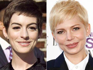 Stars Mit Kurzen Haaren Anne Hathaway Und Michelle Williams