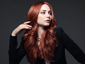 Rot haarfarbe braun Die Haarfarbe