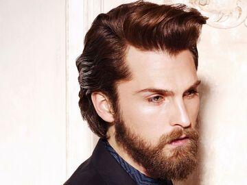 Männerfrisur zum Bart