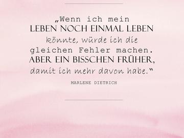 Merveilleux Marlene Dietrich Zitat