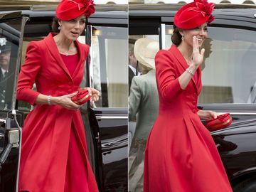 Duchess Catherine in Catherine Walker-Kleid