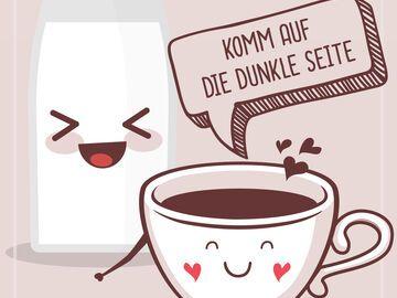 Lustiger Kaffee Spruch