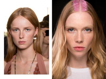 Erdbeerblond Blonde Haare Mit Rosa Glanzakzenten