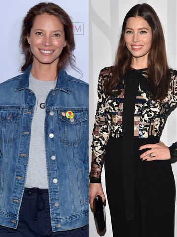 Jessica Biel und Christy Turlington