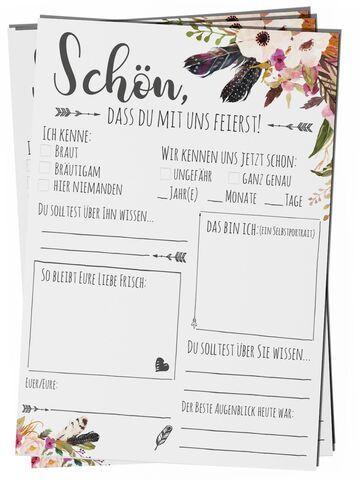 Gästebuch zur Hochzeit: Schöne Ideen fürs Hochzeitsbuch