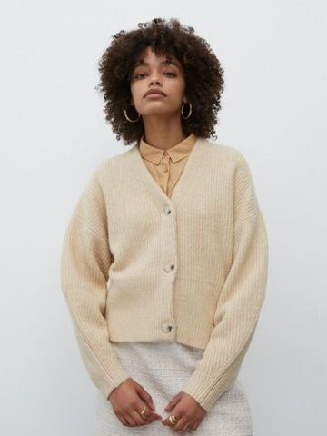 Strickjacke in Beige