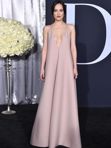 Dakota Johnson rosa Kleid