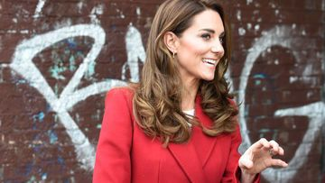 Roter Herbstmantel Kate Middleton