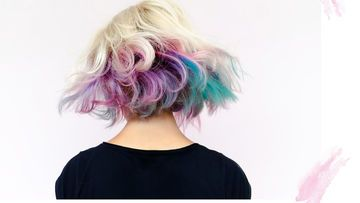 Rainbow Dip Dye Hair